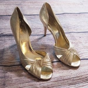 Versani Shoes - Versani Italian 9.5 shiny metallic heels